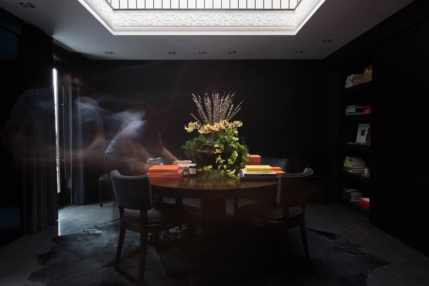 Dark Moody luxury Library table